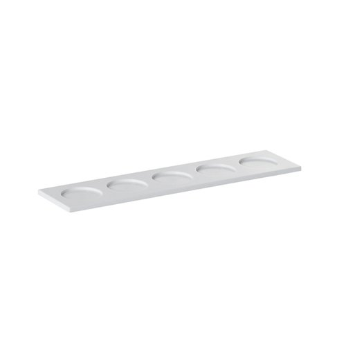 Evolution Tray 5 Compartments 29.5x7x0.6cm White Solid Surface