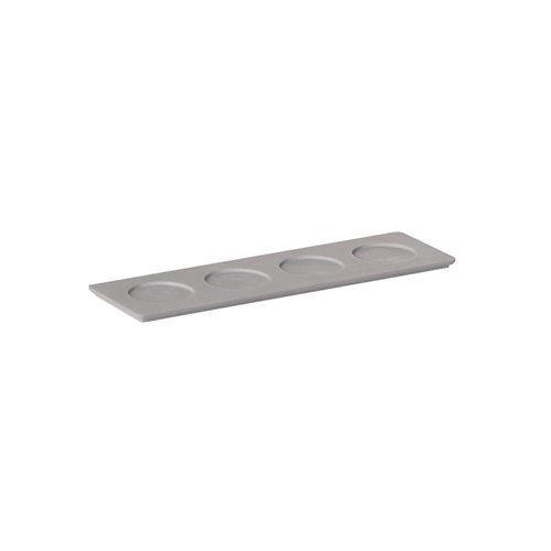 Evolution Tray 4 Compartments 24x7x0.6cm Grege Solid Surface