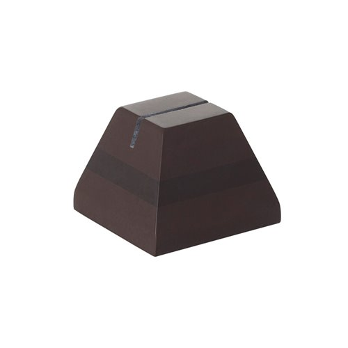 Evolution Tag Holder 4x4x3cm Brown Solid Surface