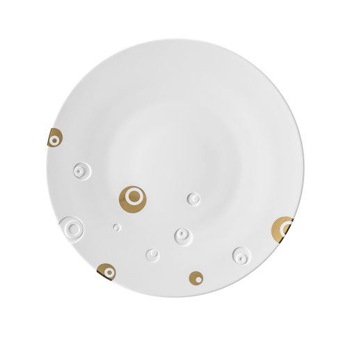 Charger Plate 32cm Bulle Shiny Gold