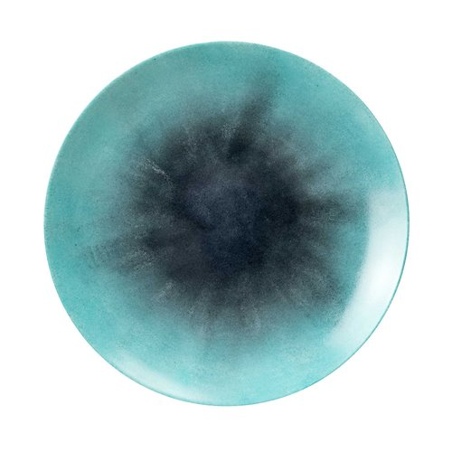 Deep Plate 31cm Reversed Blue Iris
