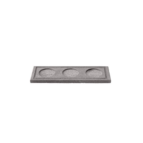 Tray 24x8cm H1cm 3 Compartments Lava Stone