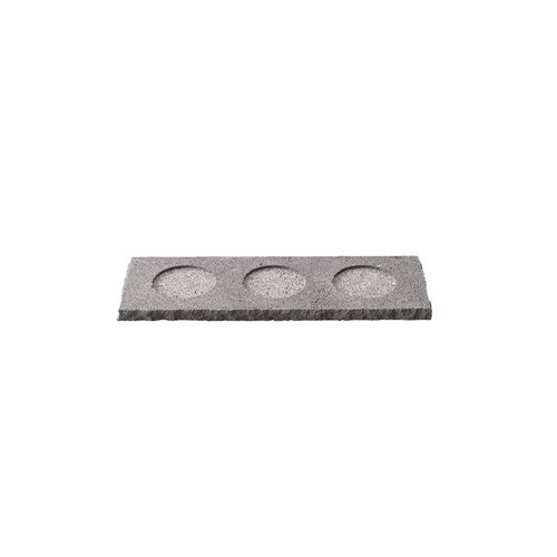 Plateau 24x8cm H1cm 3 Encoches Bords Bruts Pdl