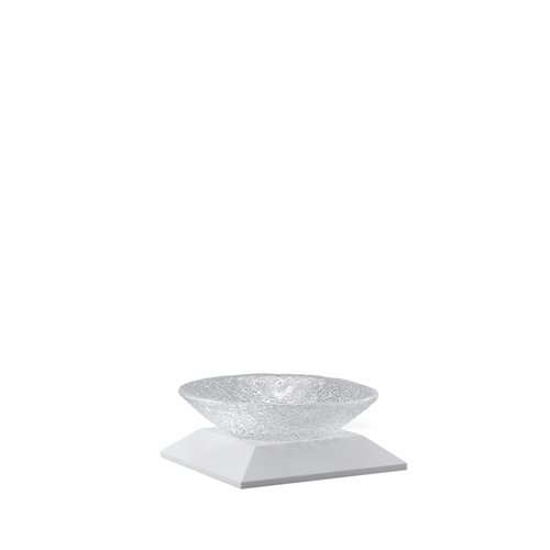 Classic Evolution stand 3cm white, Crystal bowl