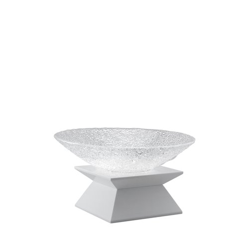 Classic Evolution stand 6cm white, Crystal bowl