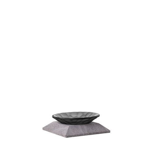 Classic Evolution stand 3cm Lava Stone, Black Nature bowl