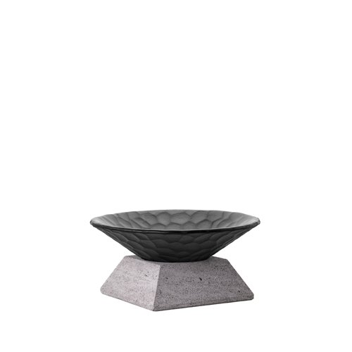 Classic Evolution stand 6cm Lava Stone, Black Nature bowl