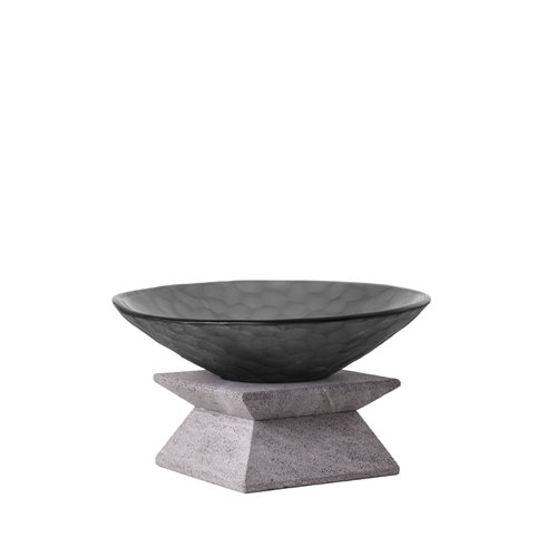 Classic Evolution stand 9cm Lava Stone, Black Nature bowl
