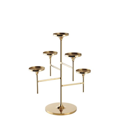 Polished brass Venus Stand H33cm