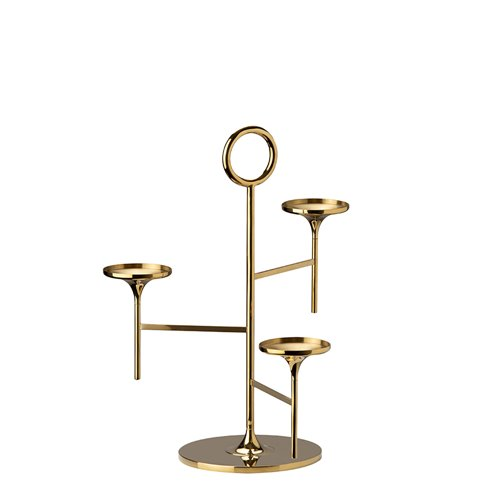 Polished brass Saint-Honoré Stand H33cm