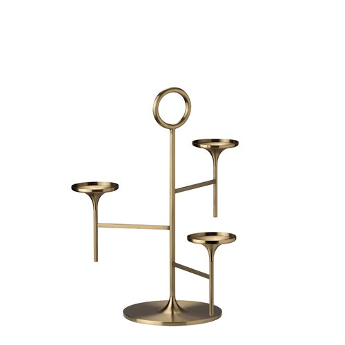 Brushed brass Saint-Honoré Stand H33cm