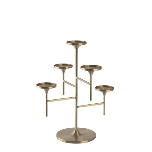 Brushed brass Venus Stand H33cm