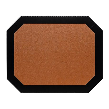 Vendome Octogonal placemat 50x40cm Camel/Black