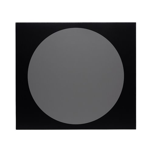Set de table Eclipse cuir Gris/Noir 45x40cm