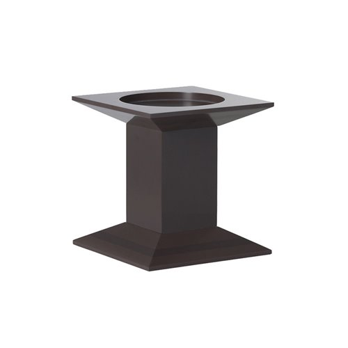 Classic Evolution Stand 17x17x17cm Brown Solid Surface