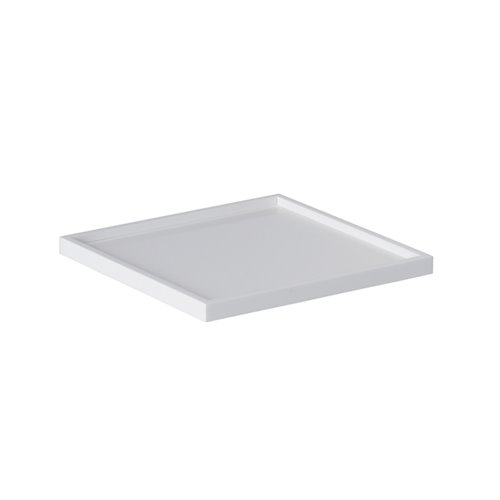 Adaptateur Insert Rond Plat. Evolution 16x16cm Surface Solide Blanc
