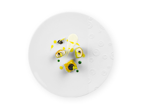 Eric Frechon - Collection Bulle  - Assiette Porcelaine