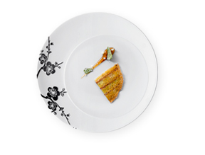 Yannick Alleno - Collection Origin Noire  - Assiette Porcelaine